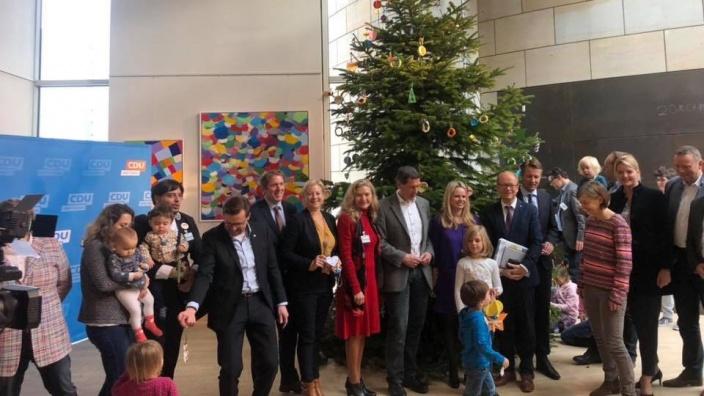 Weihnachtsbaum im Landtag